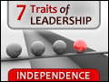 7 Traits of Leadership #1: Independence