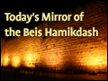 Today's Mirror of the Beis Hamikdash