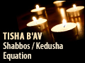 Tisha B'Av: Shabbos / Kedusha Equation